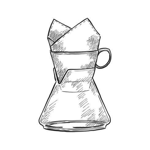 Tappning illustration av en kaffebryggare