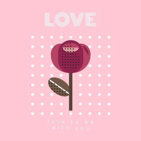 San Valentín pastel rosa gráfico