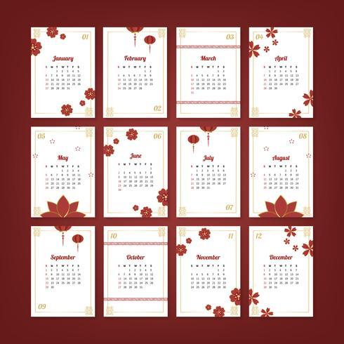 Calendario chino maqueta
