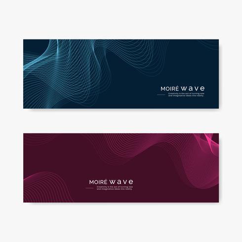Moiré mönster bakgrundsuppsättning