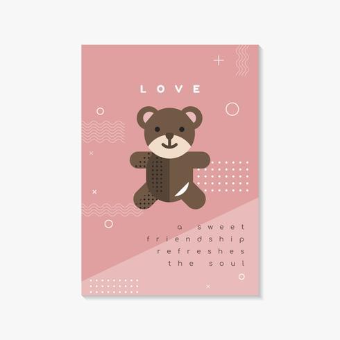 Modèle de flyer et carte de Saint Valentin