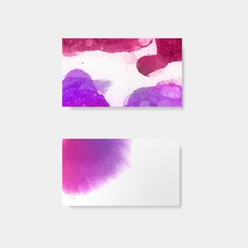 Purple watercolor style banner vector