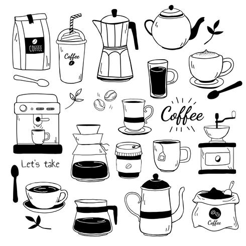 Café- und Kaffeehausmustervektor