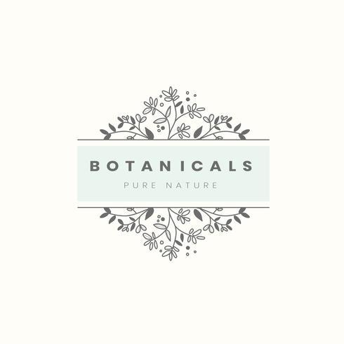 Botanisk stil emblem vektor