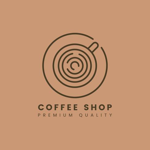Premium quality coffee shop logo vector