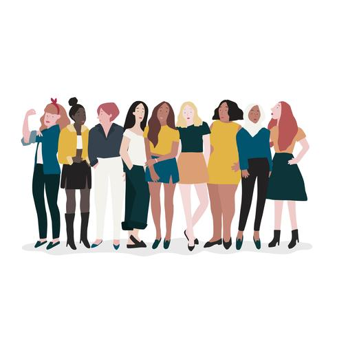 Gruppe des starken Frauenvektors