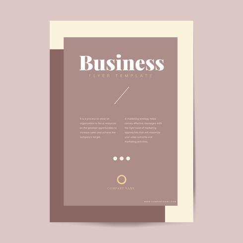 Företagsbroschyr och affischmall