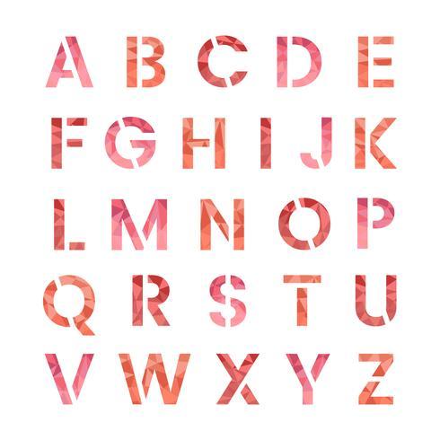 Le vecteur de lettres majuscules de l'alphabet anglais