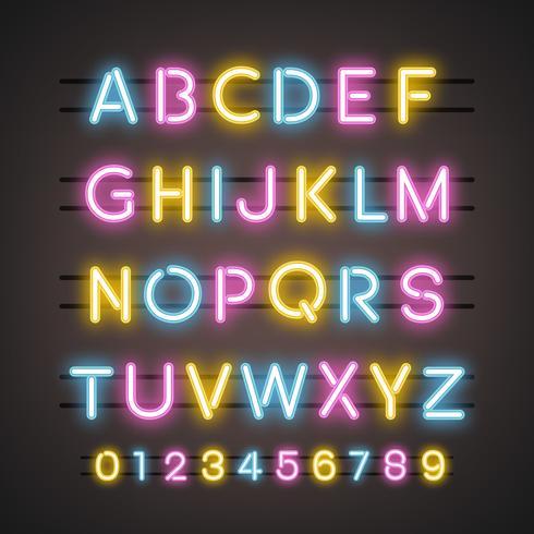 Alfabetet och numeralsystemvektorerna