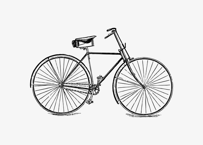 Design vintage da bicicletta