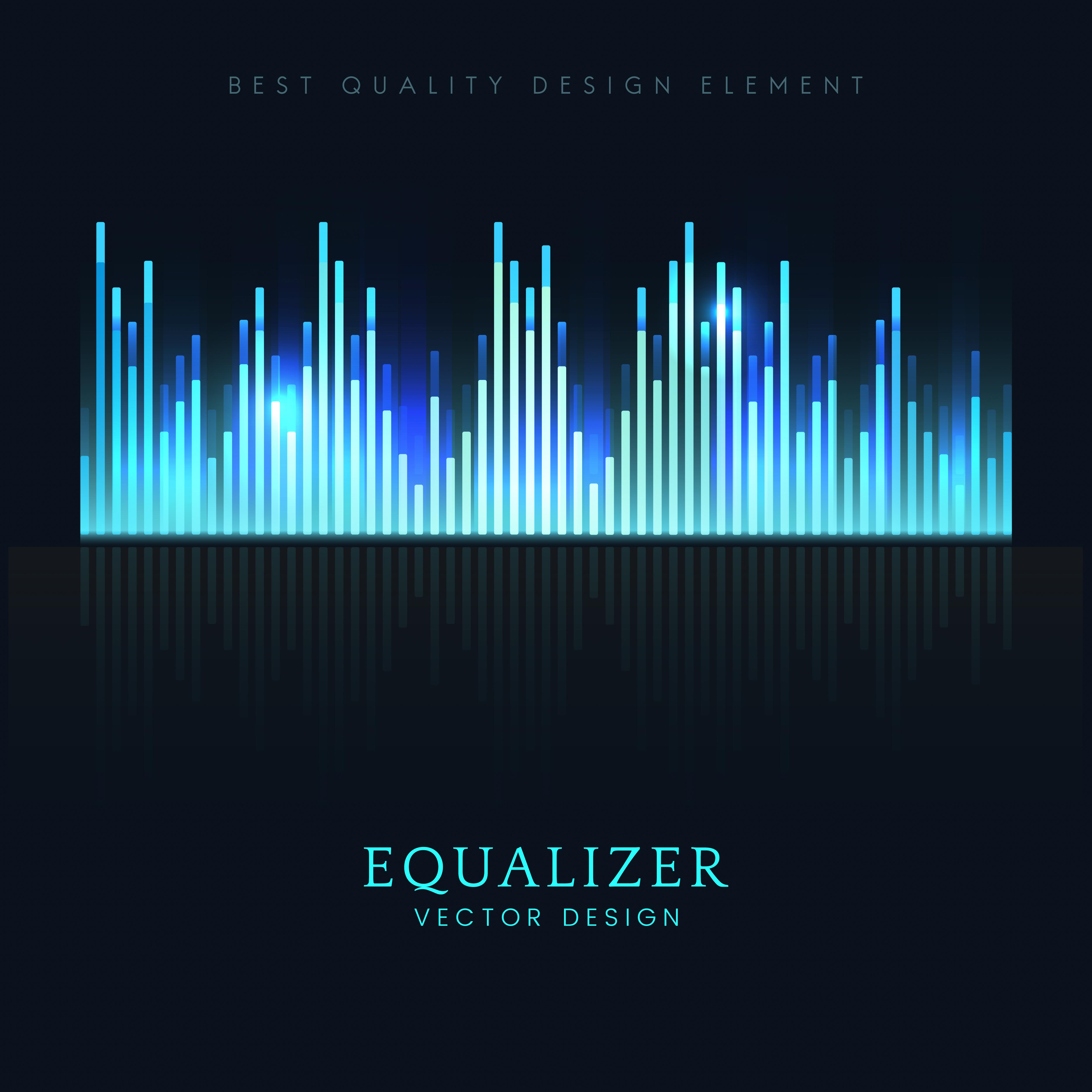 Sound wave equalizer vector design - Download Free Vectors