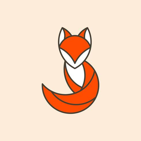 Gullig räv geometrisk djur vektor