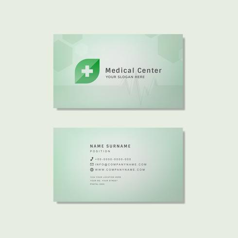 Medical professionale modello di progettazione biglietto da visita vettore