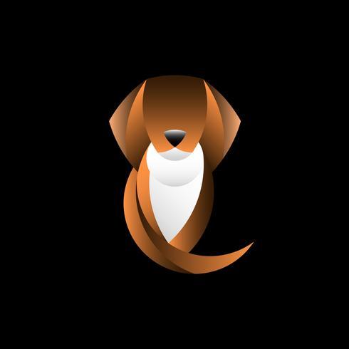 Hund geometrischer Tierdesignvektor