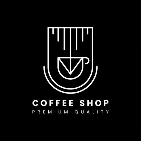 Vetor de logotipo de café de qualidade Premium