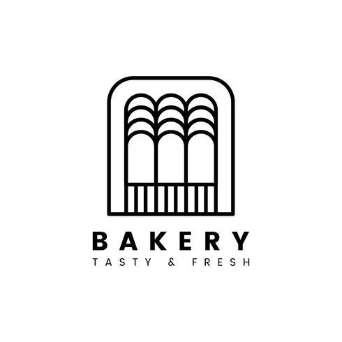 Färska bakverk bakverk butik logotyp vektor