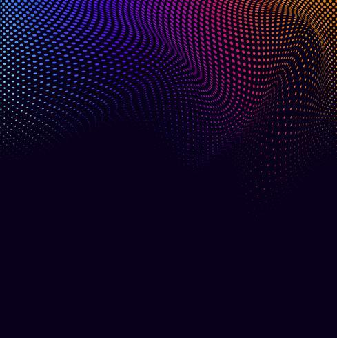 Semitono vibrante sul vettore sfondo nero
