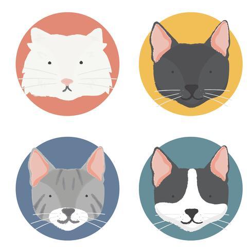 Illustrazione della collezione di gatti