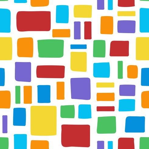 Seamless colorful brick pattern vector