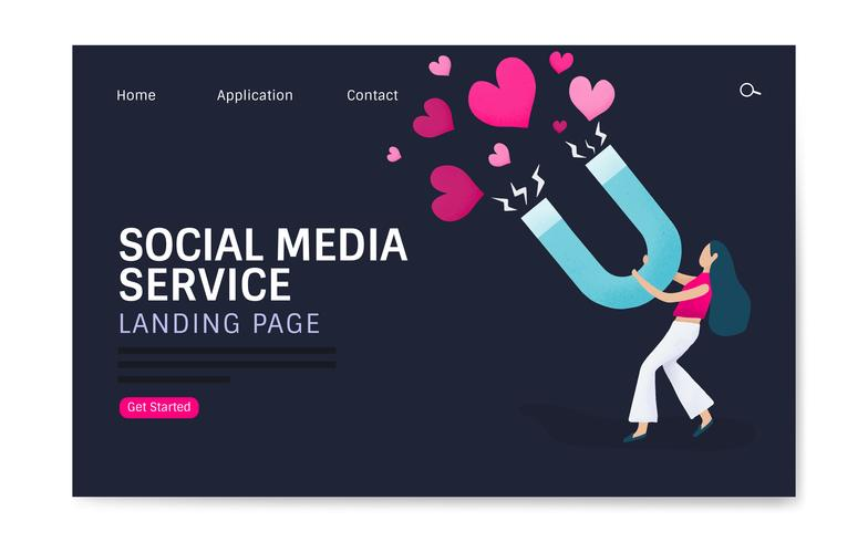 Web design for social media service