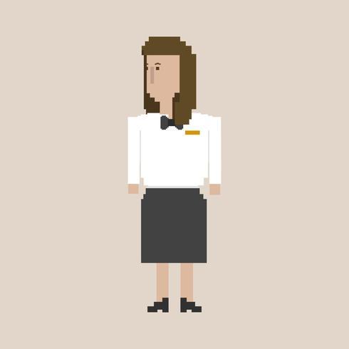Illustration de pixel de l'occupation
