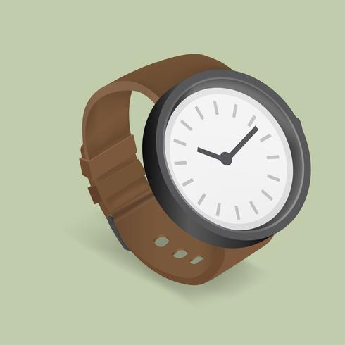 Vector icon of hand watch