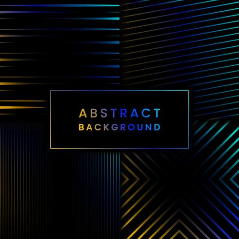 Blue and yellow abstract background vector set