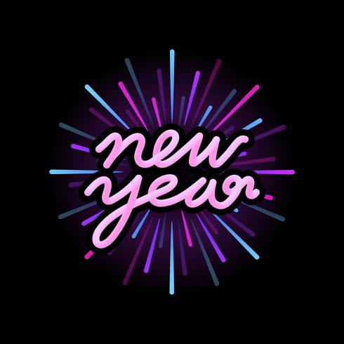 Happy new year 2019 badge vector