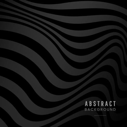 Black abstract design