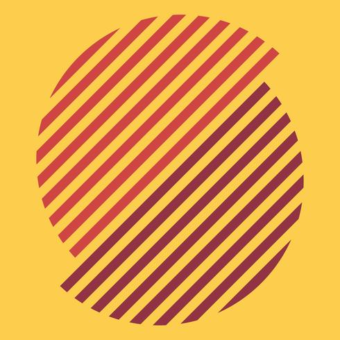 Conjunto de ilustración gráfica suiza multicolor