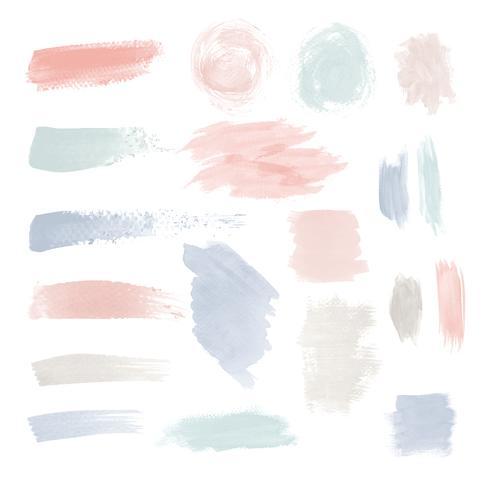 Färgglada penselsträcka design vektor uppsättning