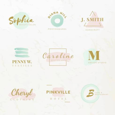 Set of beauty and fashion logo design vectors