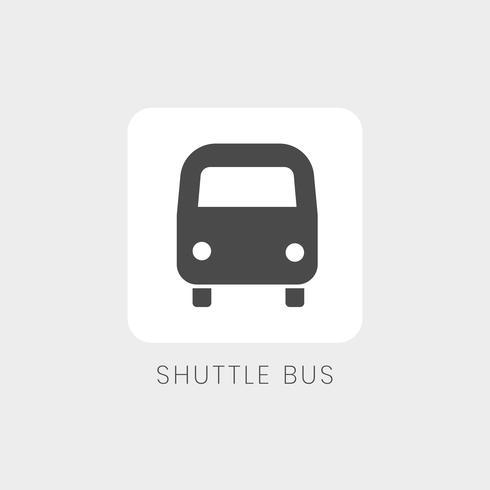 Gray shuttle bus icon sign vector