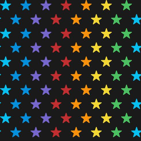 sömlös färgstark stjärna mönster vektor