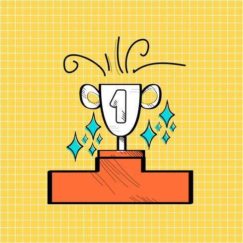 Illustration av startup business doodle