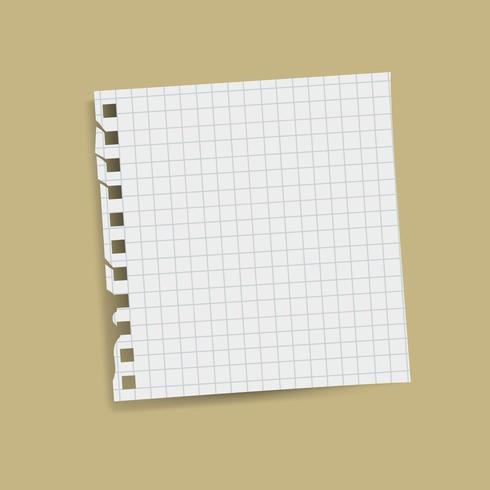 Vetor de nota lembrete grade quadrada em branco