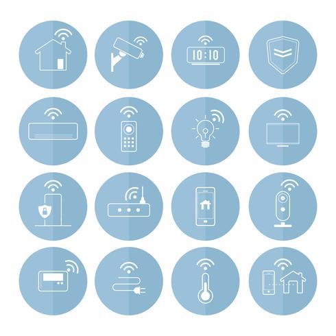 Intelligenter Haupttechnologieikonen-Vektorsatz