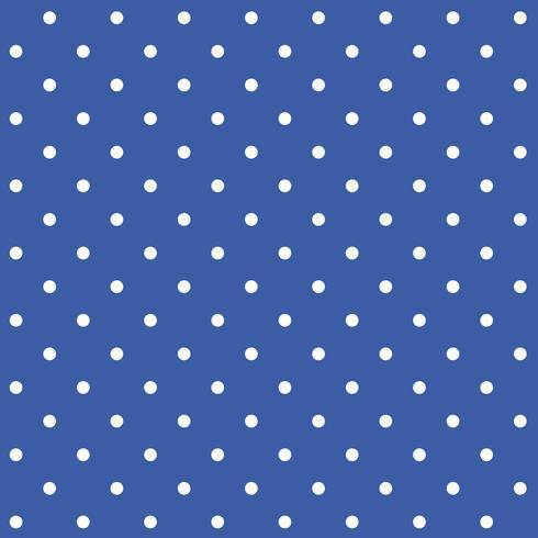 Vecteur de motif de pois sans soudure bleu et blanc