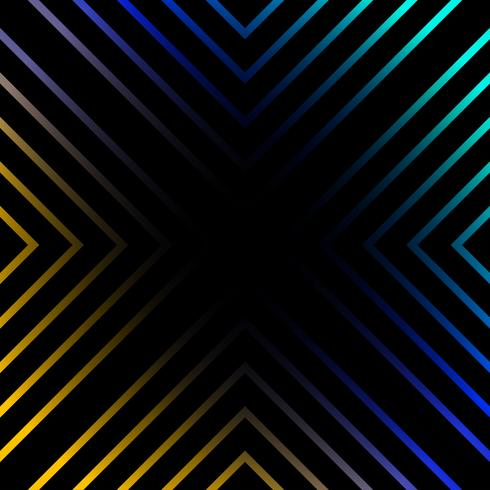 Vibrant lines on black background vector