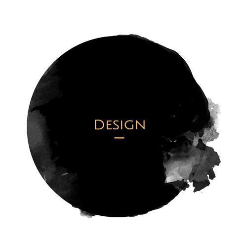 Ankündigungskreis Ausweisschablonen-Designillustration