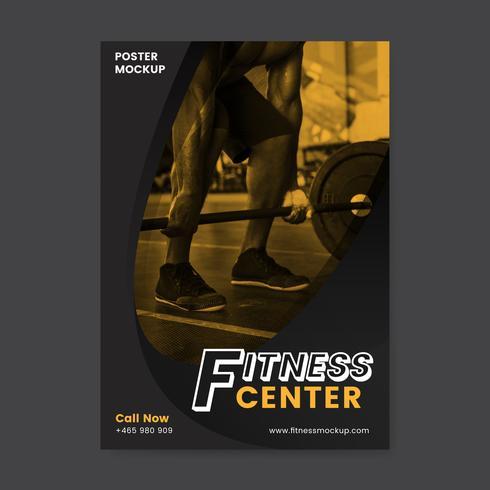 Vetor de cartaz promocional de centro de fitness