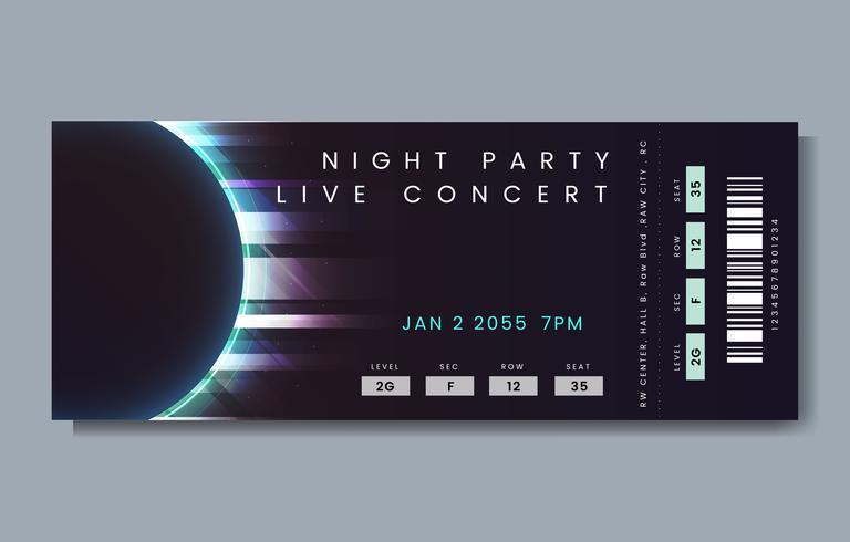 Biglietto per il concerto dal vivo