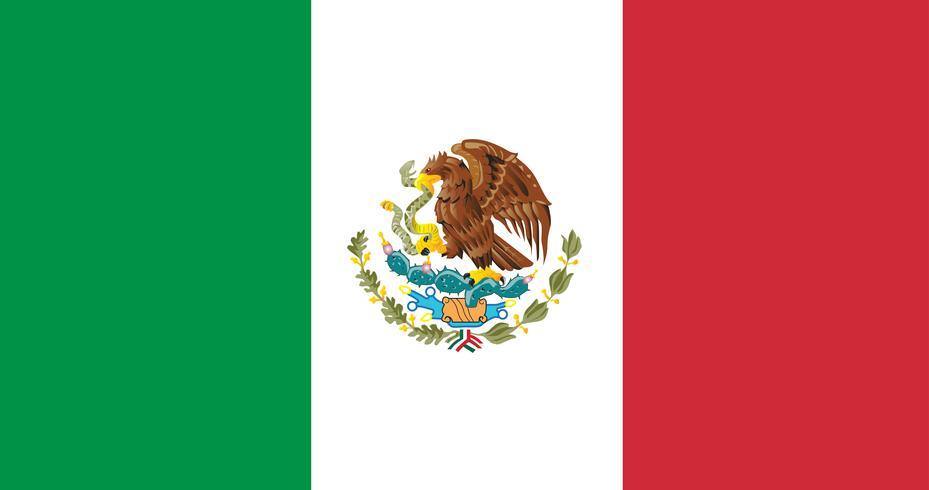 Illustration drapeau du Mexique