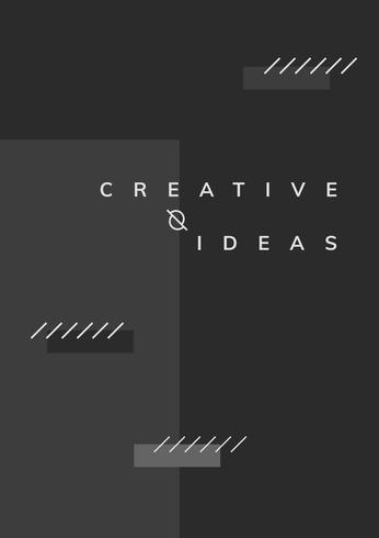 Vecteur d'affiche des idées créatives minimes Memphis