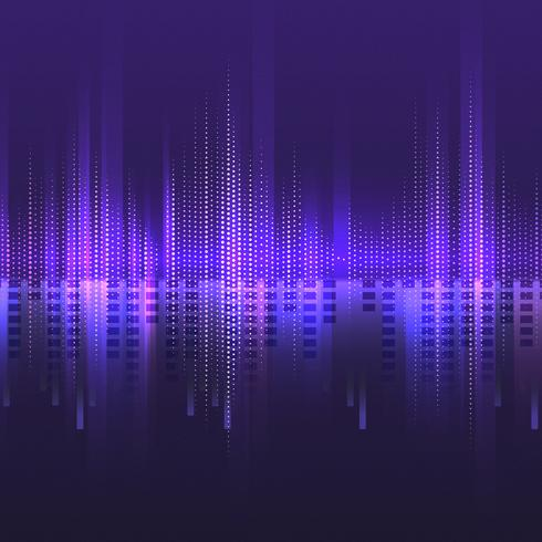 Purple equalizer pattern background vector