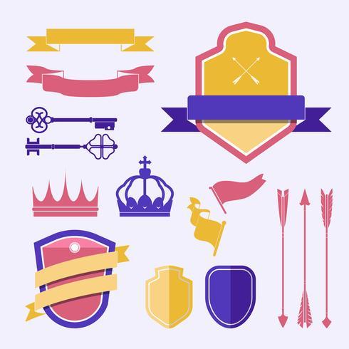 Reeks kleurrijke vectors van het etiketornament
