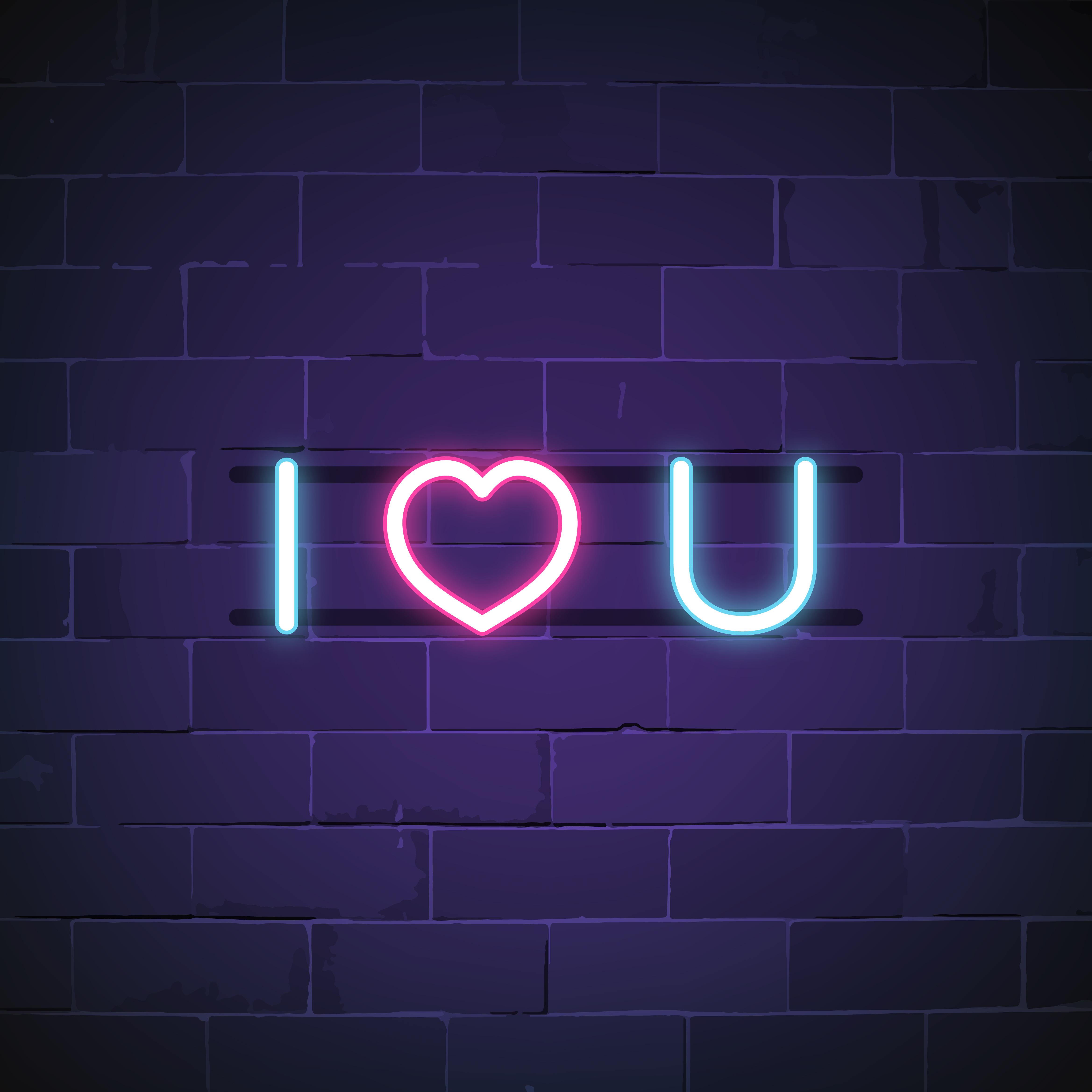 Download I love you neon sign vector - Download Free Vectors ...