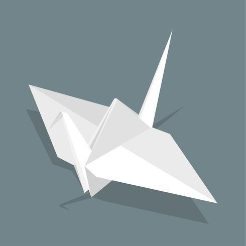 Vecteur d'icône d'oiseau en papier
