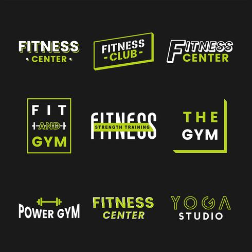 Satz von Fitness-Club-Logo-Vektoren