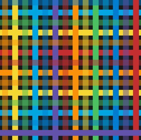 sömlöst färgstarkt rutigt mönster vektor